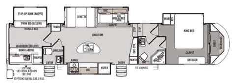 bunkhouse fifth wheel floor plans forest river cers bunkhouse king bed and 2 bath 5th