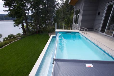 Spa Artwork For Bathrooms by Pender Island Infinity Edge Pool With Fastlane Swimspa