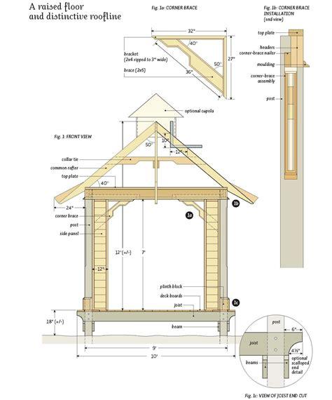 design blueprints for free free garden gazebo plans outdoor living gardens garden trends