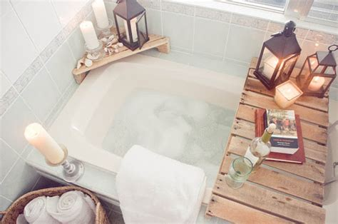 How To Decorate A Bathroom Like A Spa by Diy Spa Tub Caddies Bath Trays Decorating Your Small Space