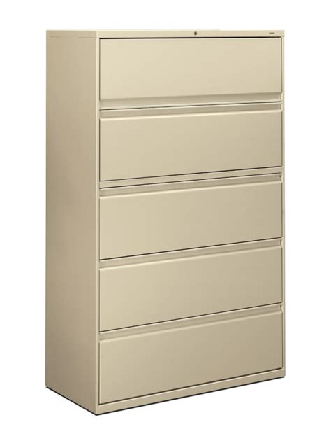 42 inch lateral file cabinet hon brigade 800 series 42 inch 5 drawer lateral file cabinet