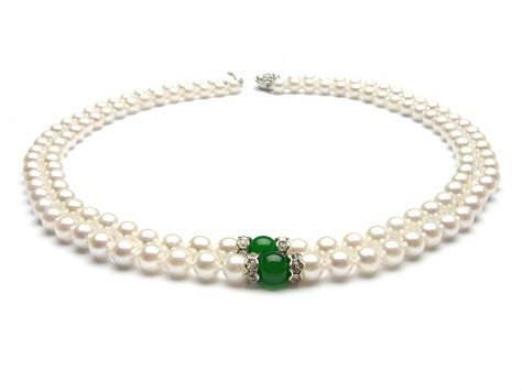 pearls jewelry strand white akoya pearl necklace 7 5 8mm aaa