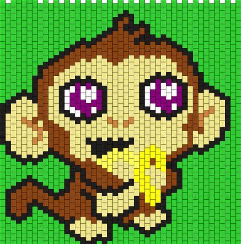 monkey pony bead pattern baby monkey bead pattern peyote bead patterns animals