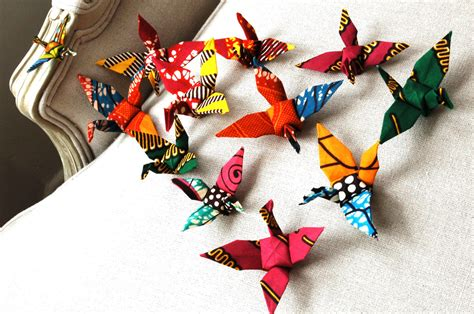 origami for decorations decoration handmade origami cranes flock of by
