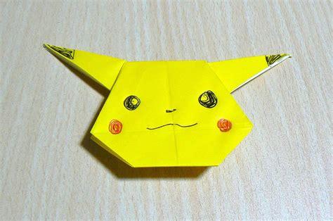 how to make origami pikachu origami el arte de doblar papel pikachu