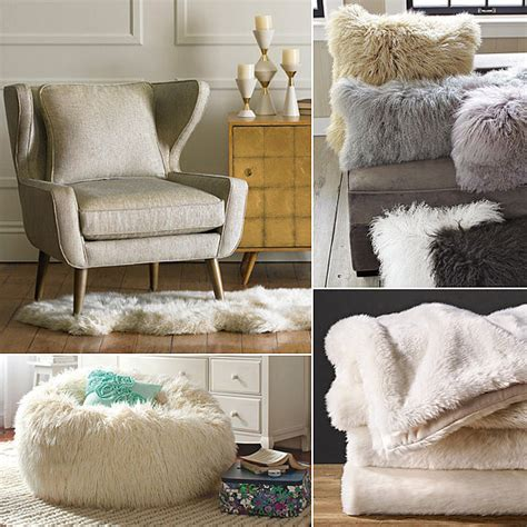 faux fur home decor popsugar home