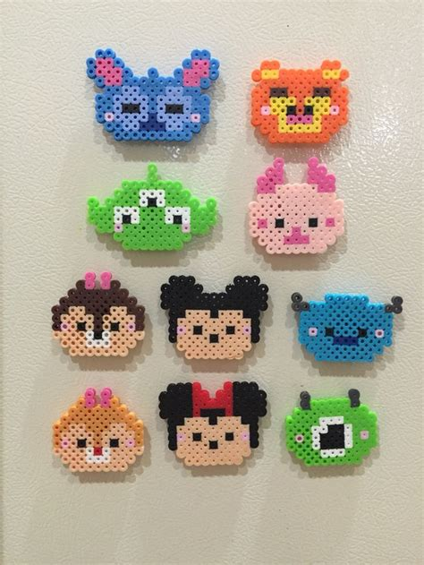 perler disney perler tsum tsum completed perler projects