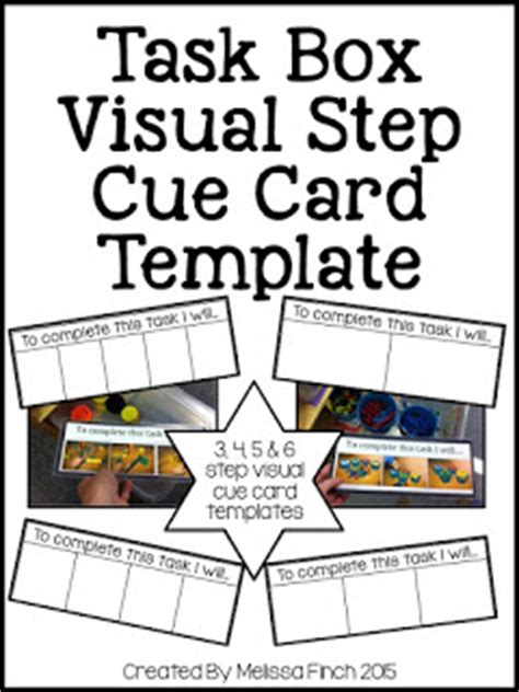 make your own cue cards teacch task boxes the autism adventures of room 83