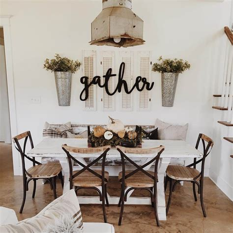 wall for dining room 37 best farmhouse dining room design and decor ideas for 2018