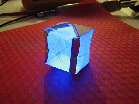 origami box lantern paper circuitry at home electric origami evil mad