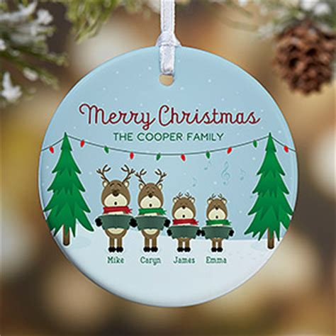 personalized ornaments clearance personalized family ornament reindeer