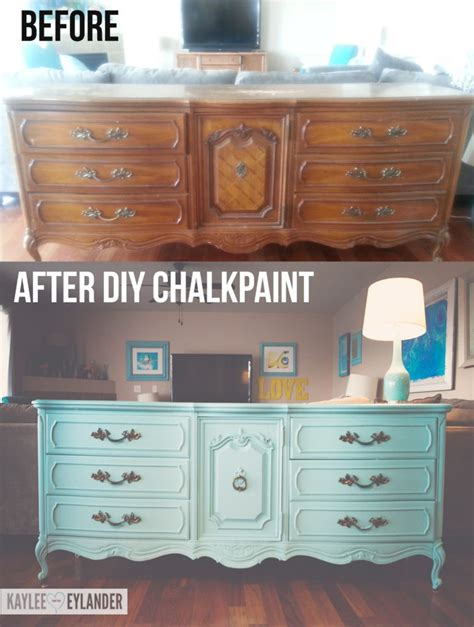 diy chalk paint makeovers diy chalk paint recipe thrift store dresser makeover