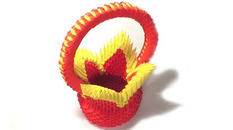 3d origami basket tutorial 3d origami flower basket tutorial