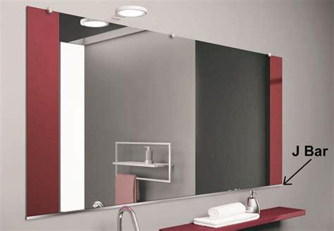 Bar Shower Mounting Bracket by J Bar Mirror Support