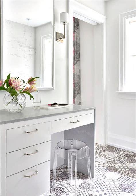waterfall bathroom vanity white makeup vanity with gray waterfall countertop