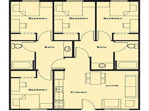 simple four bedroom house plans small 4 bedroom house plans plan 32221aa 6 bedroom u