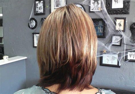 bob layered hairstyles front and back view long bob haircuts back view