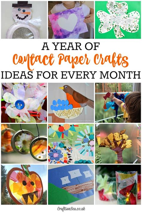 contact paper for crafts seasonal contact paper crafts for every month crafts on sea