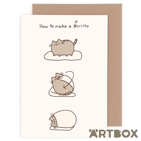 how to make a cat card buy pusheen the cat how to make a burrito greeting card at