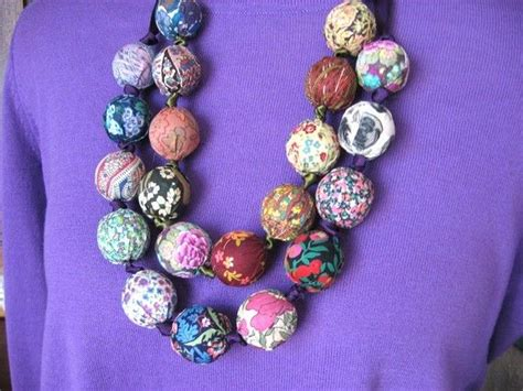 fabric bead necklace liberty of fabric bead necklace diy kit
