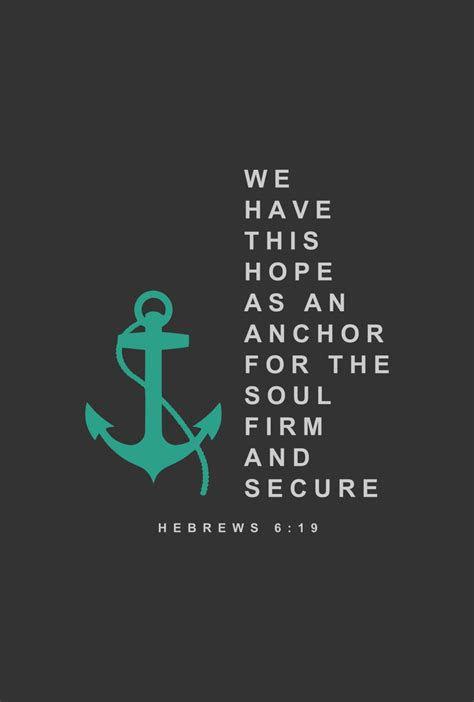 hope in jesus anchors the soul hebrews 6 19 by