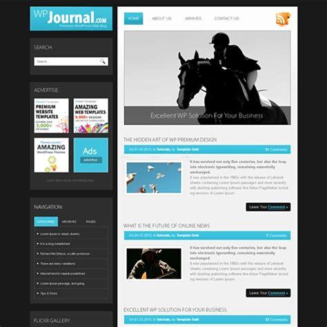 journal html template blog style website templates