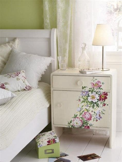 decoupage bedside table pretty inspiration for a guest or s bedroom