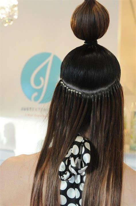 micro bead extensions best 25 micro bead hair extensions ideas on