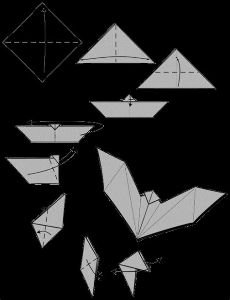 bat origami origami bat make easy origami for
