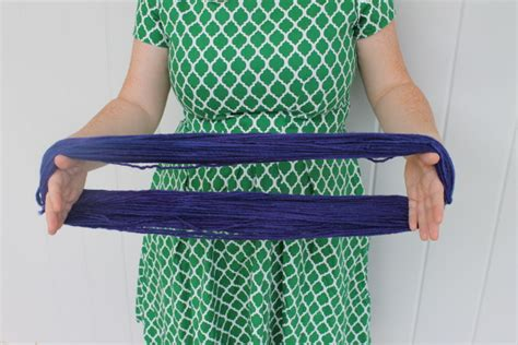 how to start a new skein of yarn when knitting the easiest way to wind a hank of yarn into a