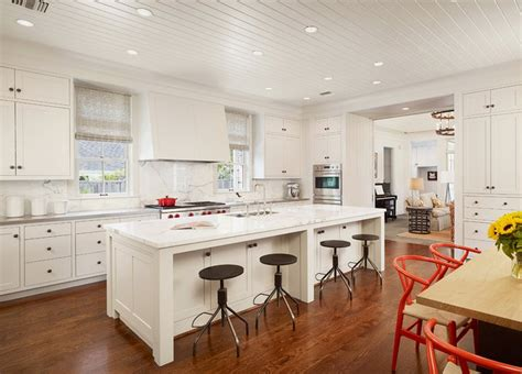 Kitchen Island With Cooktop And Seating beadboard ceiling transitional kitchen dillon kyle