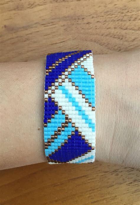 delica bead patterns miyuki delica cuff bracelet woven geometric pattern