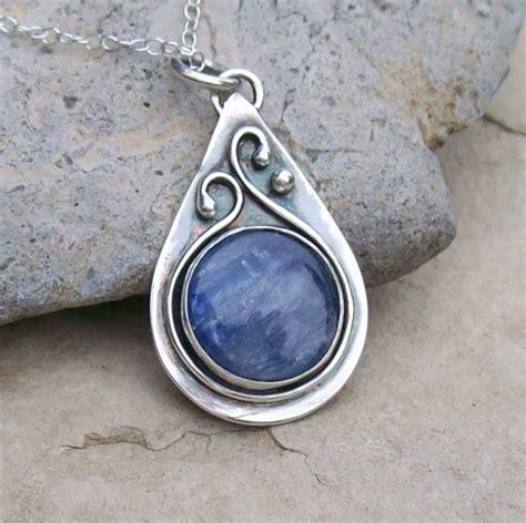 how to make bezel jewelry silver bezel set kyanite teardrop pendant necklace