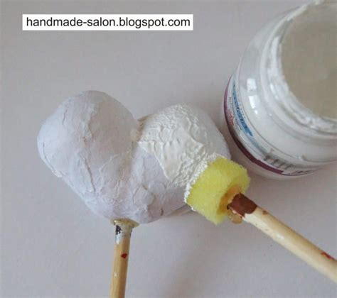 acrylic painting with foam brush how to make of kinder simple craft ideas