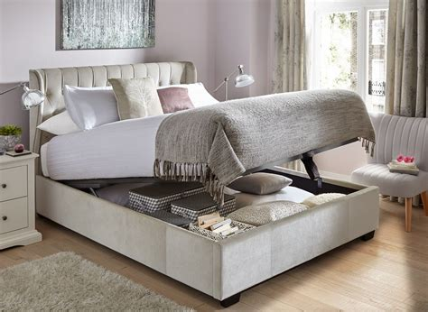ottoman bed frames uk sana pearl fabric ottoman bed frame