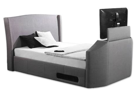 single tv bed frame sleep secrets kensington electric wireless tv bed best price
