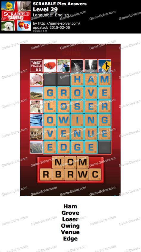 scrabble pics scrabble pics level 29 solver