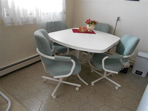 swivel kitchen chairs kitchen table and four swivel chairs table extension