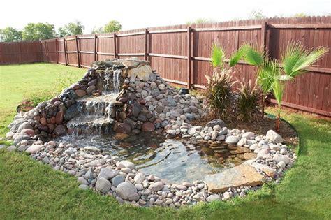 backyard pond ideas with waterfall backyard garden house design with diy small ponds