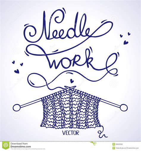 knitting words needlework knitting stock vector image 39522355