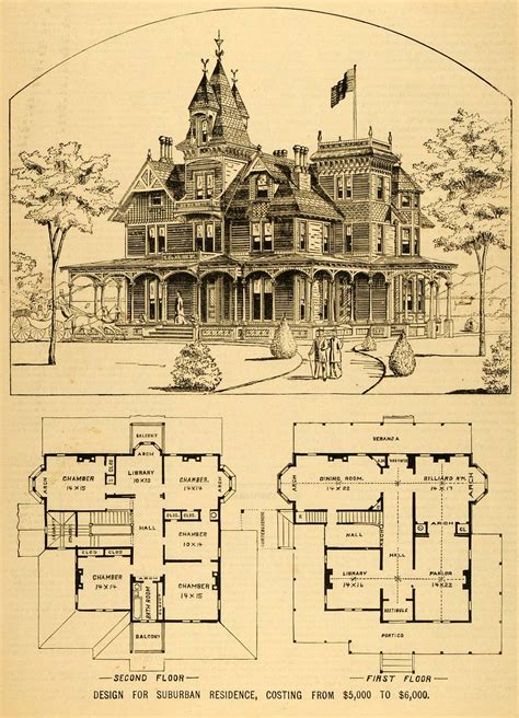 vintage victorian house plans old victorian house plans