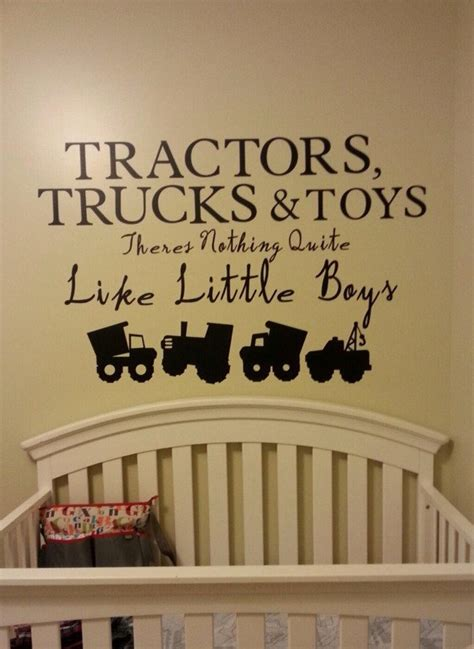 nursery vinyl wall decals baby boy nursery wall decal vinyl decal tractor construction