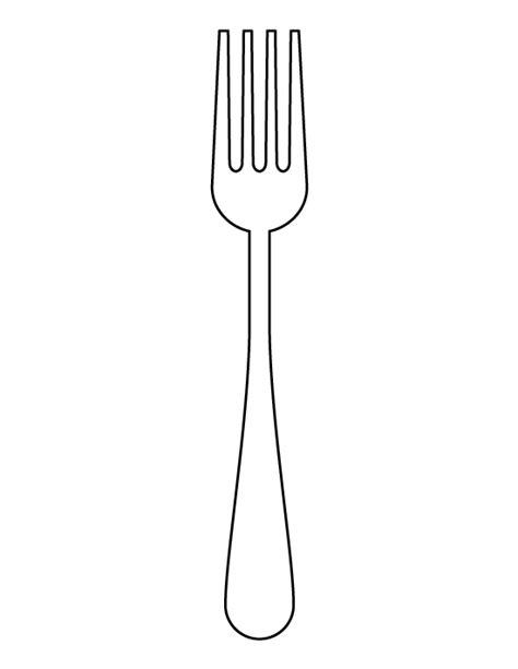 Childrens Kitchen Knives fork pattern use the printable outline for crafts