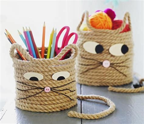 easy crafts easy craft for cat storage baskets storage