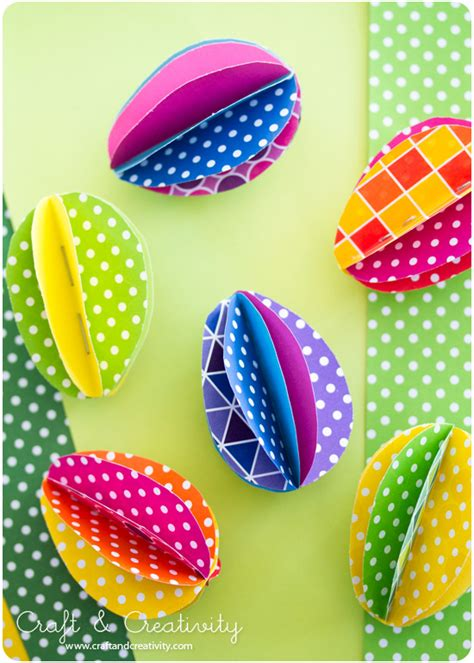 paper easter egg crafts pappers 228 gg paper eggs craft creativity pyssel diy