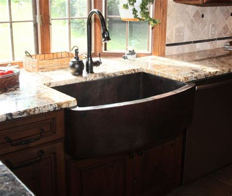 kitchen apron sink hammered copper apron front sink traditional kitchen