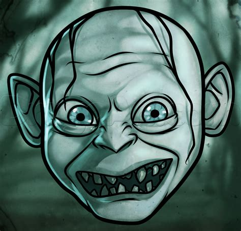How To Draw Gollum Easy Step By Step Characters Pop