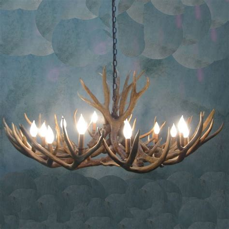 deer horn chandeliers columbine mule deer antler chandelier 12 light