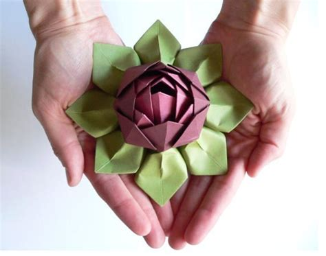 origami lotus flower tutorial origami lotus flower