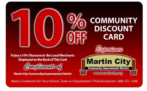 discount card supplies martin city discount card details welcome to martin city